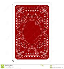 Playing Card Design Template Playing Card Back Stock Photo Image 18339240