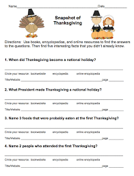 free thanksgiving research scavenger hunt grades 3 5 from more