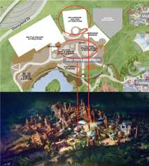 layout land star wars land rendering layout of star wars experience