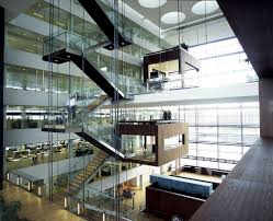 Office Stairs Design by Office Space With Open Atrium Work Pods External Stair Multi