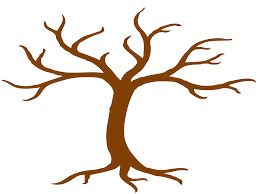 unique clipart illustration of tree branch silhouette with leaves