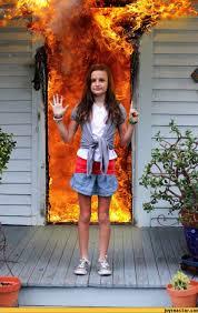 Fire Girl Meme - disaster girl all grown up pics