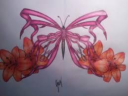 breast cancer butterfly by thebleedingnameless on deviantart