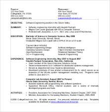 Resume Computer Science Examples Science Resume Template Sample Computer Science Resume 11 Download