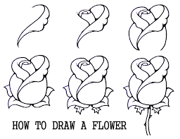 line drawings of flowers free download line drawing pinterest