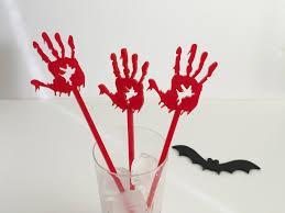 bloody hand cake topper halloween spooky blood hand spooky cake