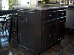 Distressed Black Kitchen Island The Polka Dot Umbrella Kitchen Island Redo