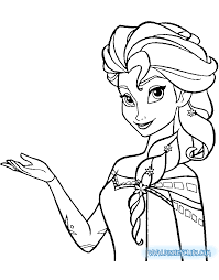 elsa and anna coloring pages to print disney drawing frozen at getdrawings com free for personal use
