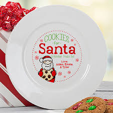 personalize plate personalized christmas plate cookies for santa christmas gifts