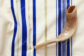 shofar tallit prayer shawl tallit and shofar horn religious symbol