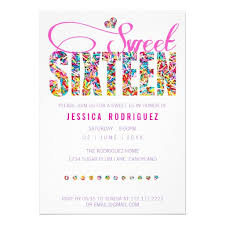 personalized candy theme birthday party invitations