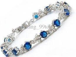 stone silver bracelet images 2018 blue stone sapphire silver crystal link bracelet from jpg