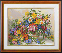 911 cross stitch kits flowers