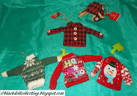 black doll collecting sweater ornaments from target