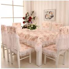 Chair Seat Covers Set Of European Style Dining Table Cloth With 6 Chair Seat Covers
