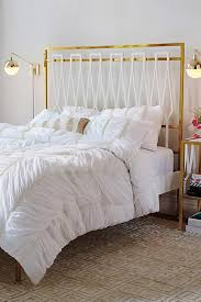 Ruched Bedding White Ruched Duvet