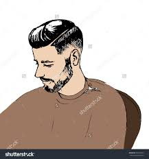 man clipart hairstyle pencil and in color man clipart hairstyle