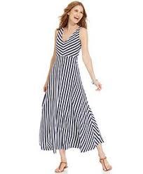 adrianna papell sheer stripe flared dress macys dresses
