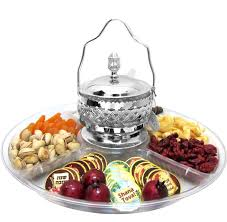 silver honey dish lucite platter israel only u2022 rosh hashanah