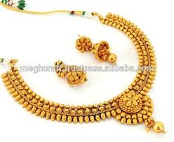 fashion jewellery necklace set images South indian one gram gold plated necklace set wholesale jpg