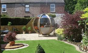 Gardens With Summer Houses - sphere garden houses adding contemporary touch to backyard landscaping