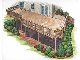 home deck plans elevated deck plans plan dream home home building plans 84986