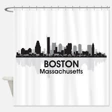 Skyline Shower Curtain Boston Skyline Shower Curtains Boston Skyline Fabric Shower