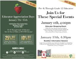 Barnes And Noble In Brandon Fl Educator Appreciation Days At Barnes U0026 Noble In Brandon