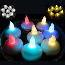 floating led tea lights mini ball shape floating led tea light candles waterproof
