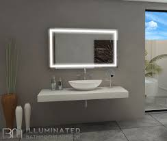 Lighted Mirror Bathroom Dimmable Lighted Mirror Harmony 48 X 28 Bathroom Mirrors