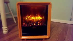 crane electric mini fireplace heater animation effect youtube