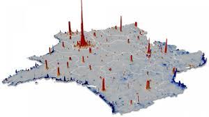 United States Population Distribution Map by Taking The Census With Cellphones Science Aaas