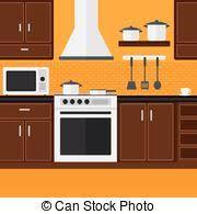 fond de cuisine appliances fond cuisine plat appareils illustration