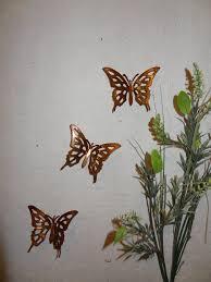 copper butterflies set of 3 butterflies wall art metal