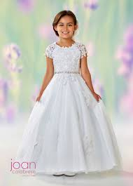 communion gowns joan calabrese 118326 open v back communion dress