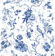 Blue And White Wallpaper by Blue Toile Birds Make Me A Dress Pinterest Toile White