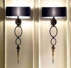 Black Interior Wall Lights Wall Sconces Matching Black Wall Sconces With Black Linen Shades