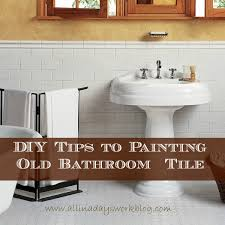 How To Paint Bathroom Diy Tips To Painting Old Bathroom Tile