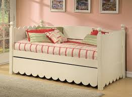alligator scallop daybed with pop up trundle u0026 reviews wayfair