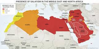 Africa Middle East Map by This Map Shows The Presence Of Salafism In The Middle East And