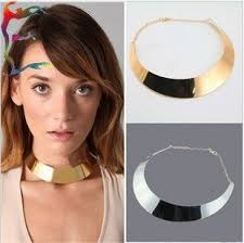 choker metal necklace images Wholesale fashion gold silver round metal choker necklace 6pcs lot jpg