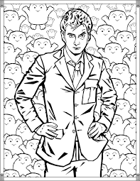 doctor pages tenth doctor tv shows coloring pages