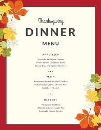 border autumn leaves thanksgiving menu templates by canva