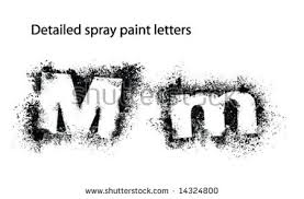 Font Spray Paint - detailed spray paint font uu stock vector 14326624 shutterstock