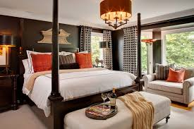 Traditional Bedrooms - traditional bedroom design with four poster bed home interior
