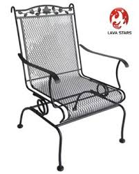 Motion Patio Chairs Wrought Iron High Back Motion Chair Patio Furniture View Steel
