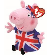 peppa pig ty ty beanie babies plush teddy soft toys ebay
