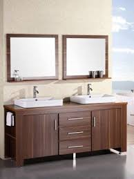 Bathrooms With Double Vanities Cherry Bathroom Vanities Provide A Rich And Warm Bathroom Tone