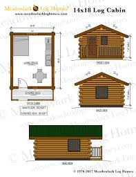 log cabin plan 14x18 log cabin meadowlark log homes