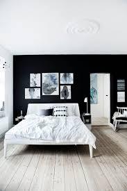 monochrome bedroom design white bed